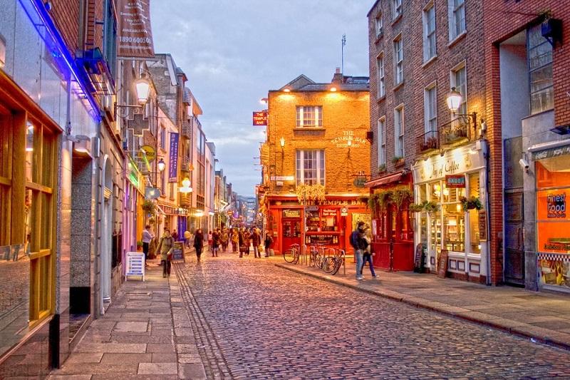 Região de Temple Bar em Dublin