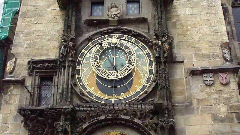 Torre do relógio astronômico em Praga