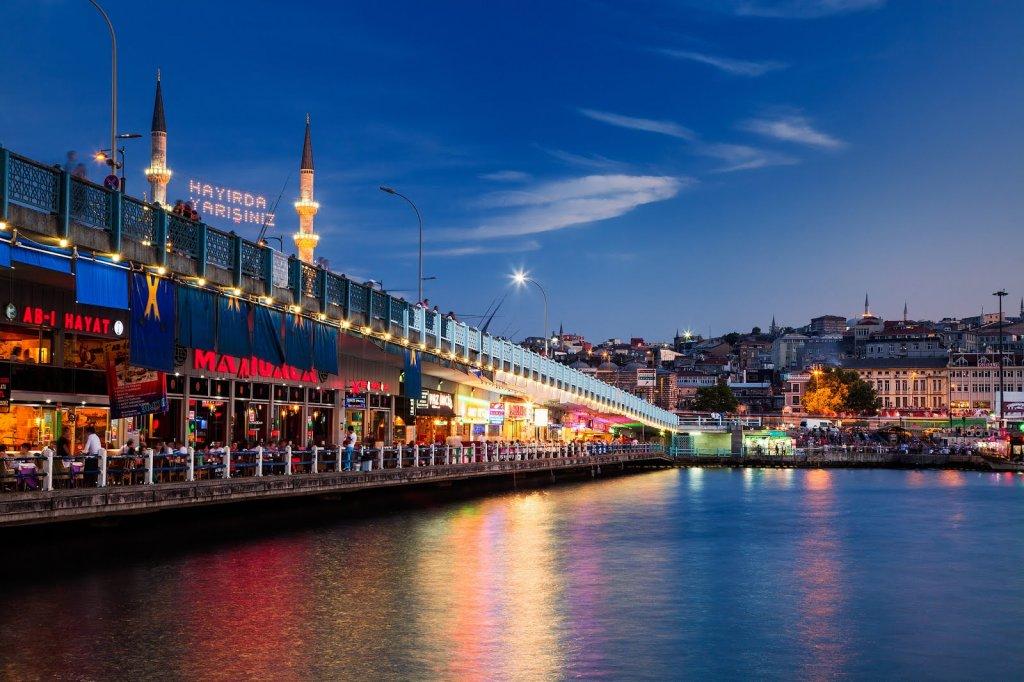 Ponte Gálata em Istambul