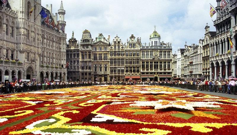 Centro histórico em Bruxelas