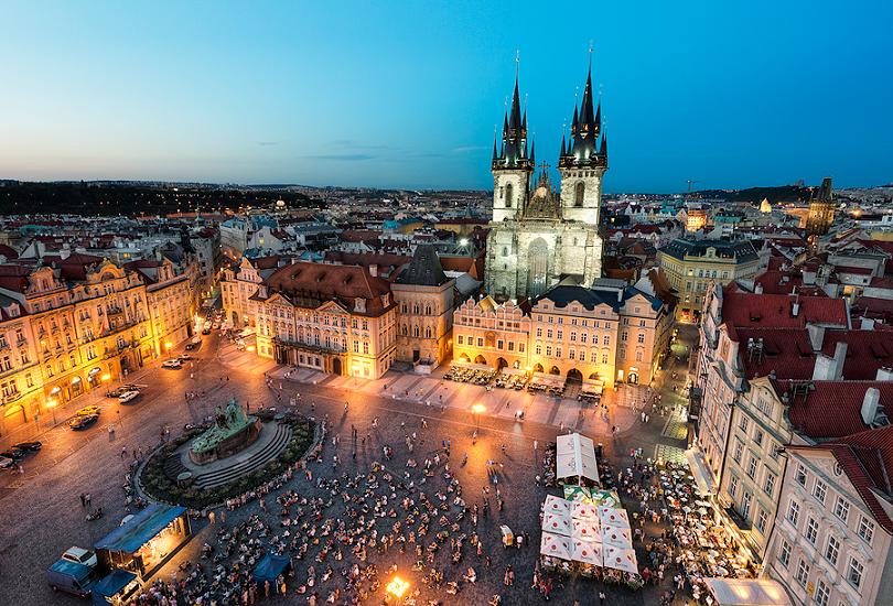 Cidade Velha em Praga na República Checa