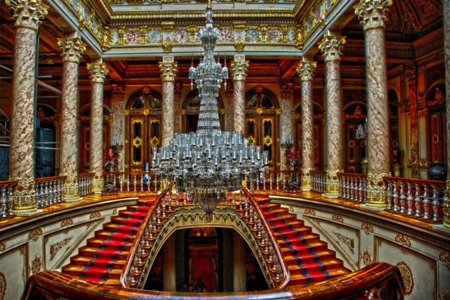 Interior do Palácio Dolmabahçe em Istambul
