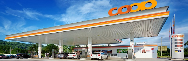 Posto de gasolina na Suíça