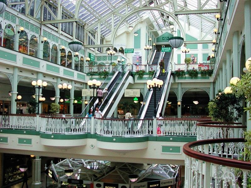 Lojas do Shopping Stephen's Green em Dublin