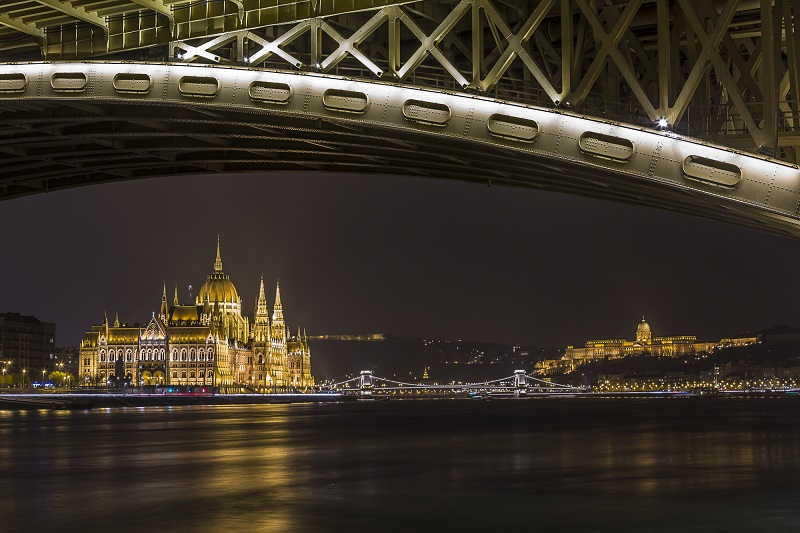 Passeio à noite pela cidade de Budapeste