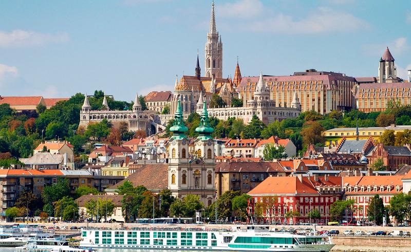 Pontos turísticos em Budapeste na Hungria