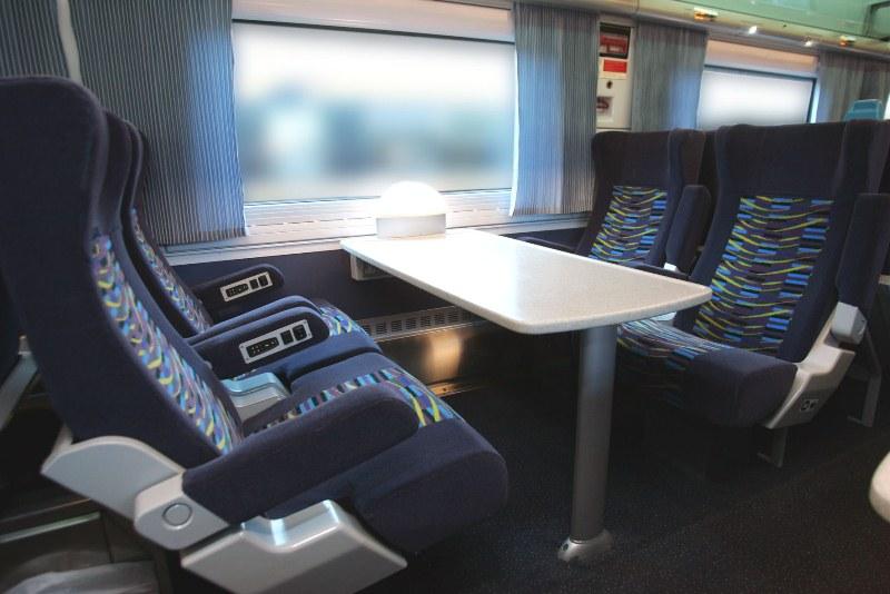 Primeira e segunda classe nos trens na Irlanda