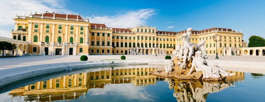 Palácio de Schonbrunn em Viena na Áustria