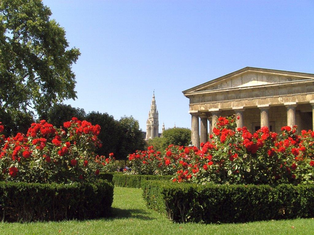 Jardim Volksgarten em Viena