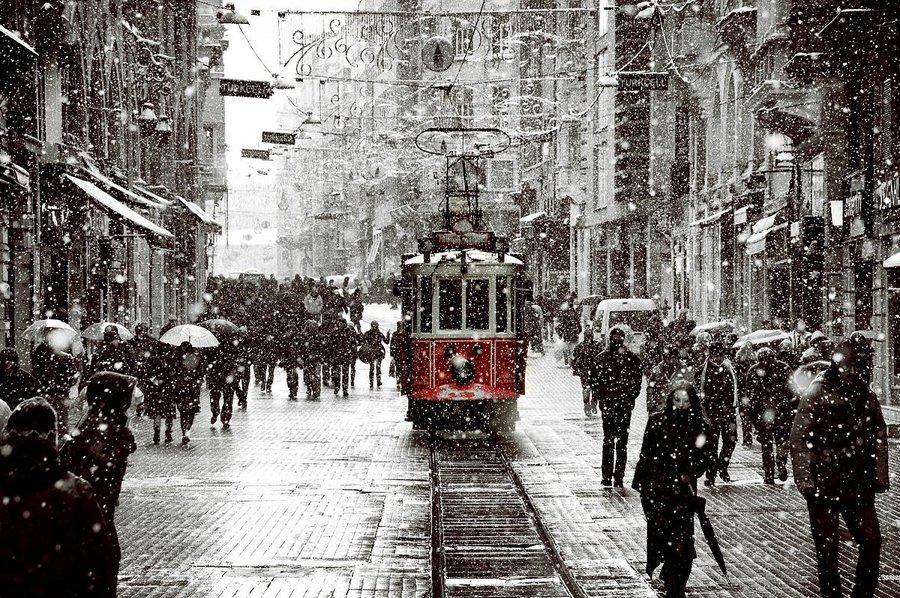 Estações do ano em Istambul na Turquia