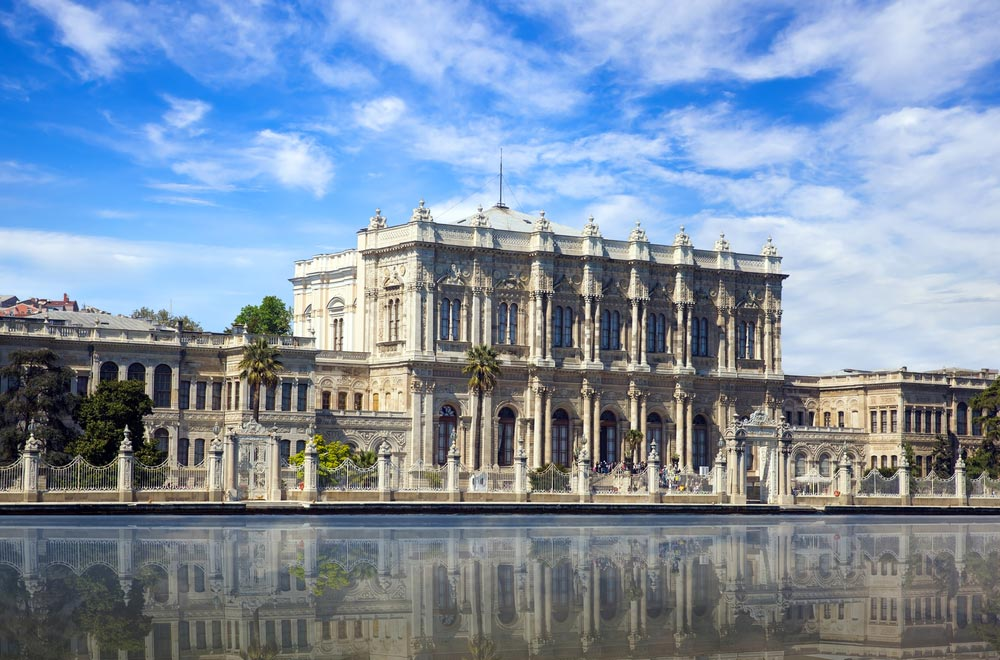 Palácio Dolmabahçe em Istambul na Turquia