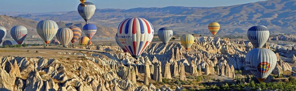 Voos de balão pela Capadócia na Turquia