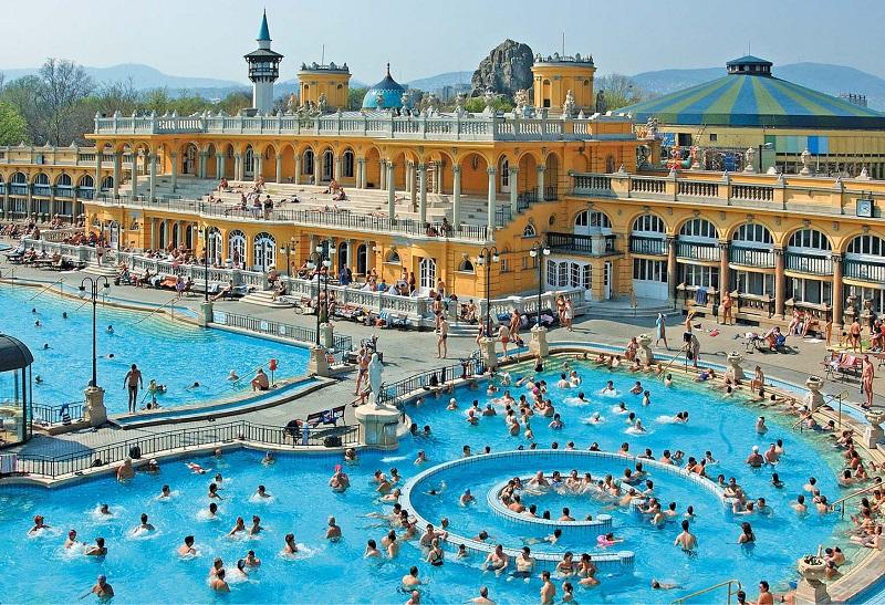 Banhos termais Széchenyi em Budapeste