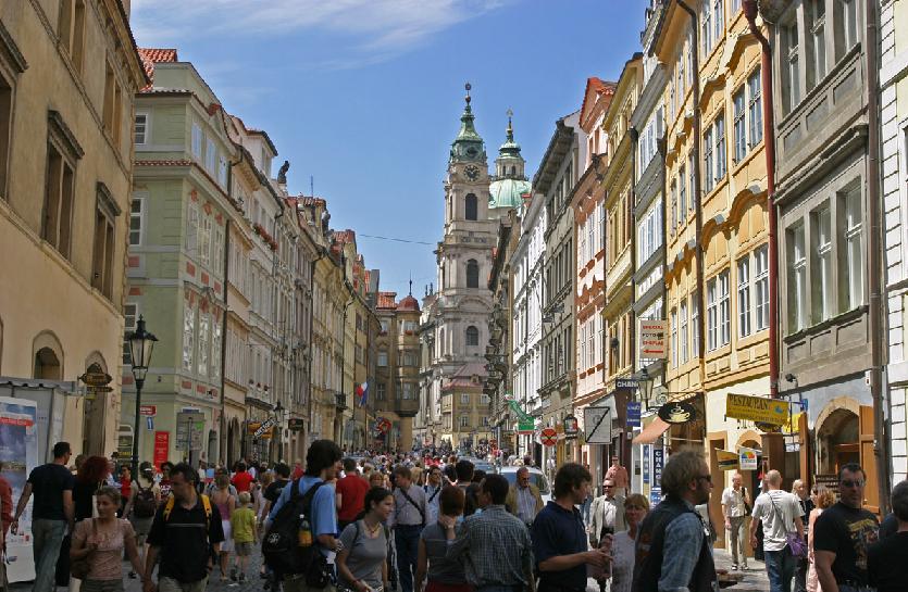 Cidade Pequena em Praga na República Checa