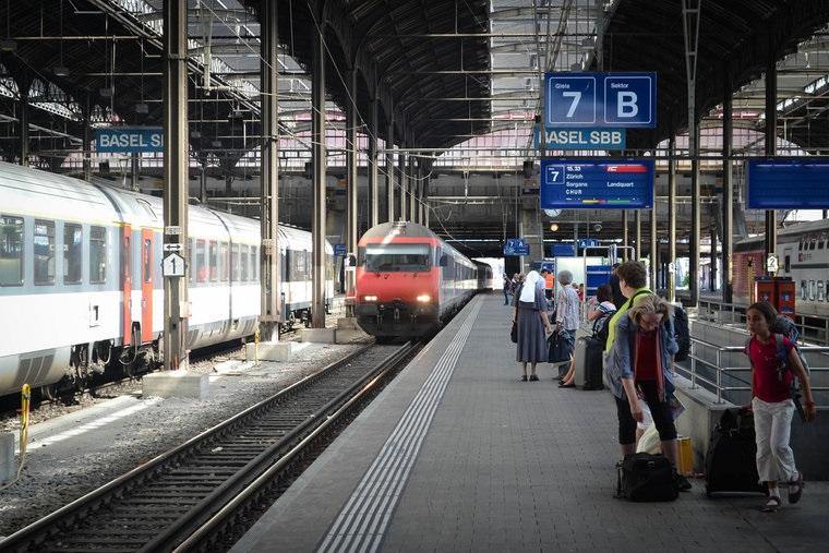 Estação de trem na Suíça