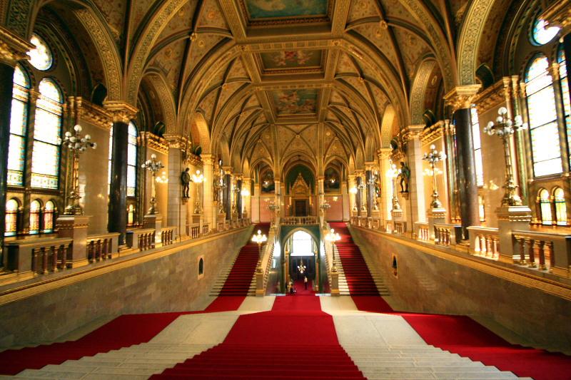 Sala do prédio do Parlamento
