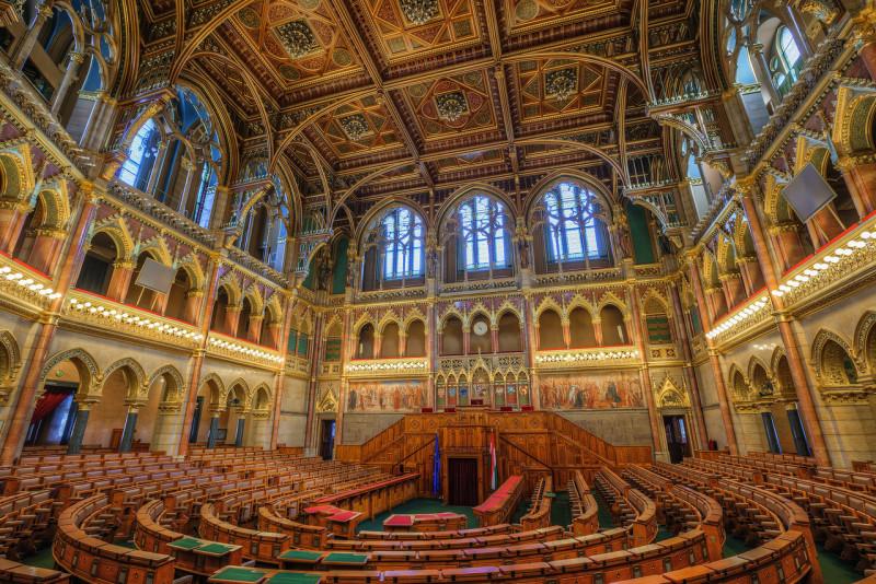 Interior do prédio do Parlamento