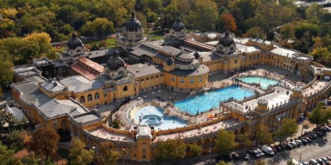 Banhos termais Széchenyi: Parque da Cidade, Városliget