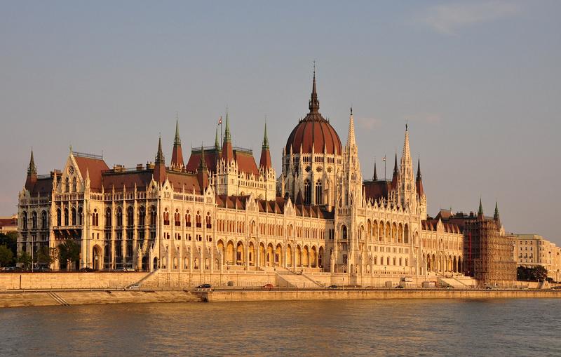 Vista do prédio do Parlamento