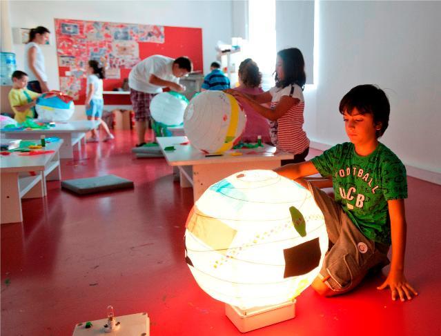 Ateliês com crianças no Museu de Arte Moderna de Istambul