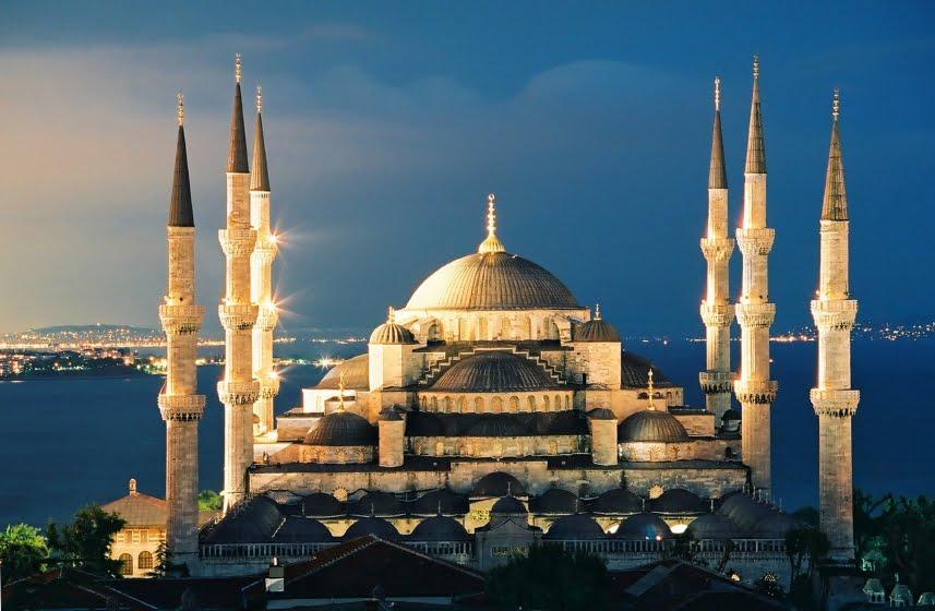 Mesquita Azul no centro histórico de Istambul
